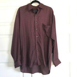 BURBERRYS of London Check Button Front Shirt Sz M